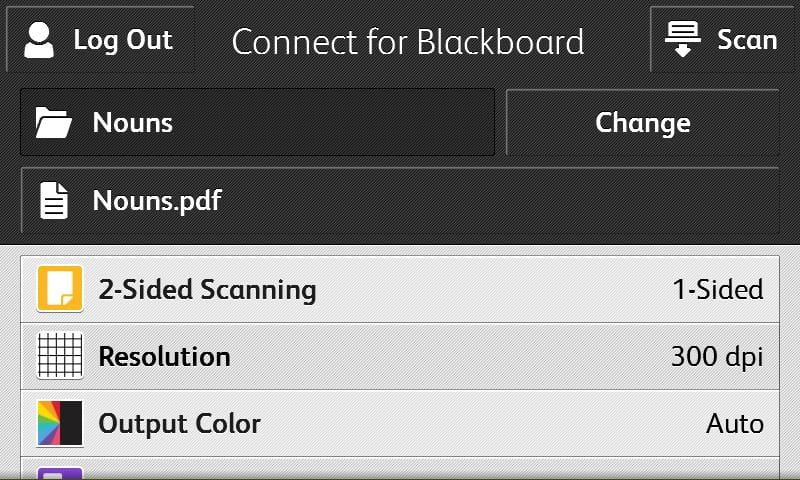 Connect for Blackboard screenshot