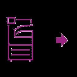 Icon violet phaser arrow