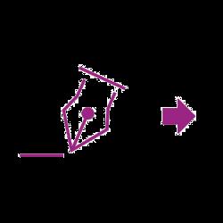 Icon violet signature arrow