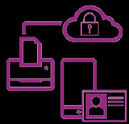 Icon purple secure network