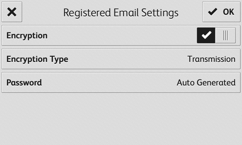 RMail app registered email display screenshot