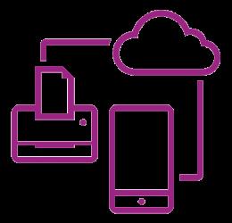 Secure network icon purple