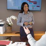 Xerox® B225 Multifunction Printer office woman