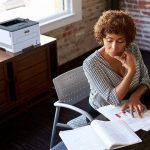 Xerox® B230 Multifunction Printer woman office